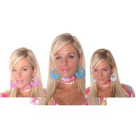 Costume Accessory-Groovy 60's Hoop Earrings-1pkg