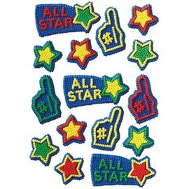 Icing Decorations-All Star-15pkg-35g