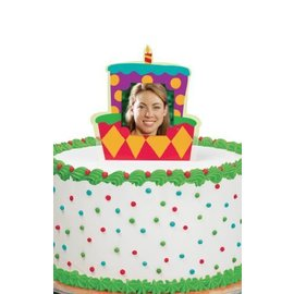Photo Cake Topper-Birthday Cake-1pkg-5""