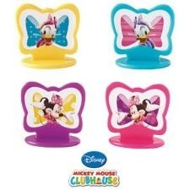 Cupcake Toppers-Minnie Mouse-8pkg-1.44""