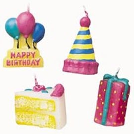 Candles-Happy Birthday-4pkg-1.5""