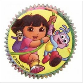 Baking Cups-Dora the Explorer-Yellow-50pk