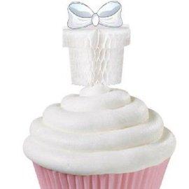 "Cupcake Picks-Wedding Present-12pkg-3"""