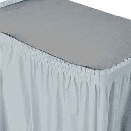 Table Skirt-Shimmering Silver-Plastic
