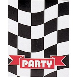 Invitations-Race Car Party-8pkg