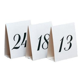 Place Cards-White and Black-13~24-12pkg-5''