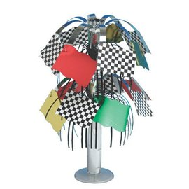 Centerpiece-Foil Cascade-Race Car Flag-1pkg-8.5""