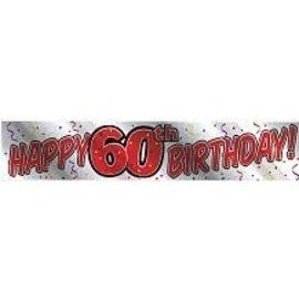 Banner-Happy 60th Birthday-Metallic-60''x12''