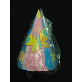 Hats-Party-Bright Butterfly-Paper-6pk