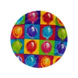 Plates-LN-Balloon Party-8pkg-Paper