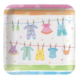 Plates-LN-Baby Clothes-8pkg-Paper - Discontinued