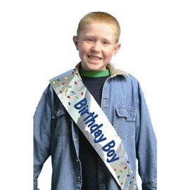 Sash-Foil-Birthday Boy-1pk-66x4''