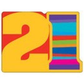 Invitations-21st Birthday Stripes-8pkg