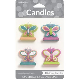 Candles-Mod Butterfly-4pkg