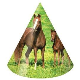 Hats-Cone-Wild Horses-8pkg-Paper