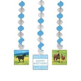 "Hanging Cutouts-Swirl-Wild Horses-3pkg-30"""
