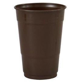 Plastic Cups-Chocolate Brown-20pkg-16oz