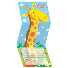 Invitations-Jungle Paty-8pkg