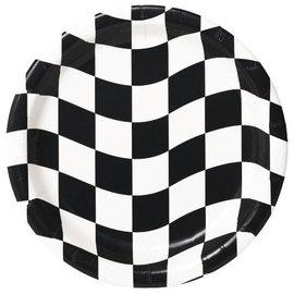 Plates-BEV-Race Car Flag-8pkg-Paper - Discontinued