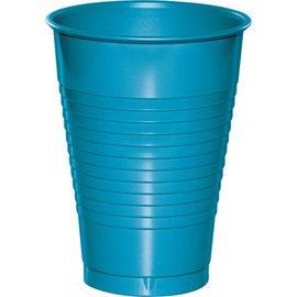 Plastic Cups-Turquoise-20pkg-12oz