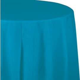 Tablecover-Round-Turquoise-Plastic