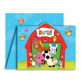 Invitations-Barnyard Bash-8pkg