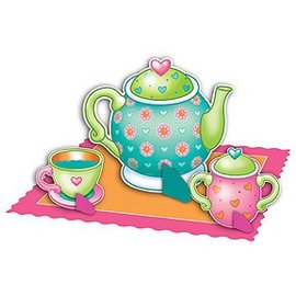 "Centerpiece Kit-Tea Party-4pkg-4""-11.75"" (Discontinued)"