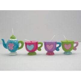 Candles-Tea Party-4pkg (Discontinued)