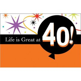 Invitations-Life is Great at 40-8pkg