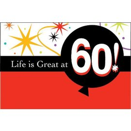 Invitations-Life is Great at 60-8pkg
