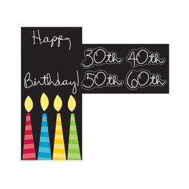 Door Sign-Customizable Happy Birthday-1pkg
