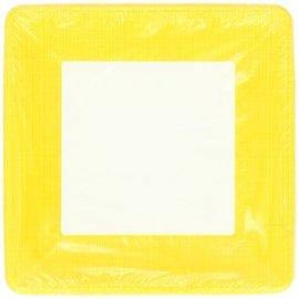Plates-BEV-School Bus Yellow Border-12pkg-Paper