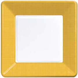 Plates-LN-School Bus Yellow-12pkg-Paper