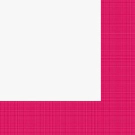 Napkins-LN-Textured Hot Magenta Border-24pkg-3ply (Discontinued)