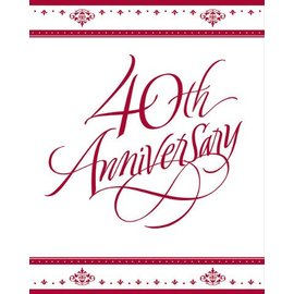 Invitations-Ruby 40th Anniversary-25pkg