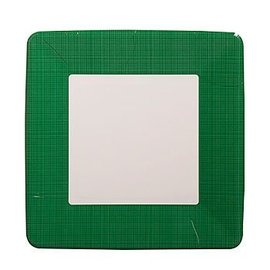 Plates-BEV-Emerald Green Border-12pkg-Paper