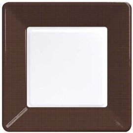 Plates-BEV-Chocolate Brown-12pkg-Paper