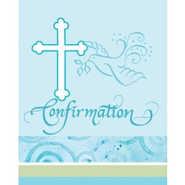 Invitations- Blue confirmation-8pk (Seasonal)