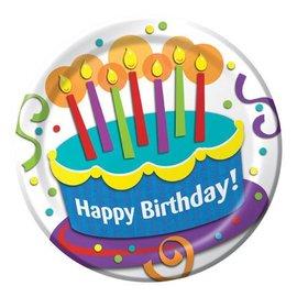 Plates-LN-Cake Surprise Birthday-8pkg-Paper - Discontinued