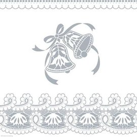 Tablecover-Rectangle-Silver Wedding Bells-Plastic (Discontinued)