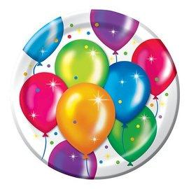 Plates-LN-Birthday Balloons-8pkg-Paper