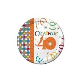 Plates-BEV-Celebrate in Style 40th-8pkg-Paper