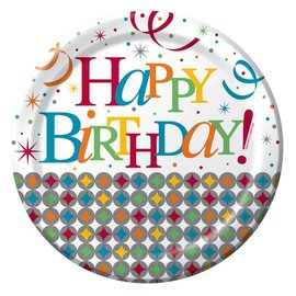 Plates-DN-Celebrate in Style Birthday-8pkg-Paper - Discontinued