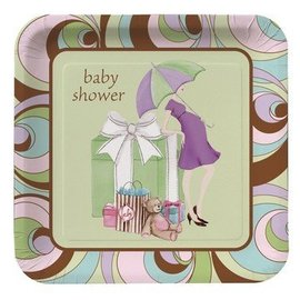 Plates-LN-Parenthood Baby Shower-8pkg-Paper - Discontinued
