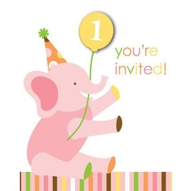 Invitations-Sweet at One Girl-8pkg