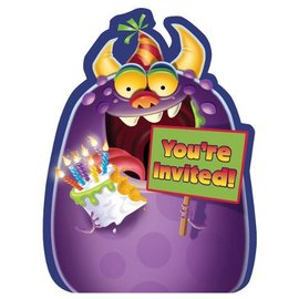 Invitations-Monster Mania-8pk
