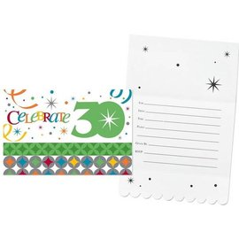 Invitations-Celebrate in Style 30th-8pkg