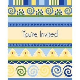 Invitations-Mediterranean Pottery-8pkg