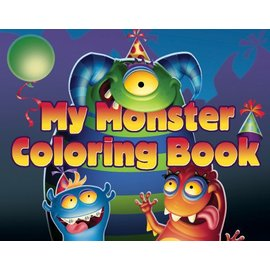 Colouring book-Monster Mania-4pk (Discontinued)