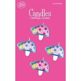 Candles-Lil Lady Bug-4pkg